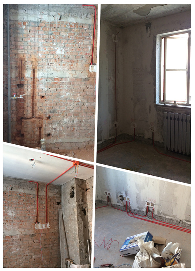 旧房改造 玉桃园水电改造施工现场图 京深装饰高清图片
